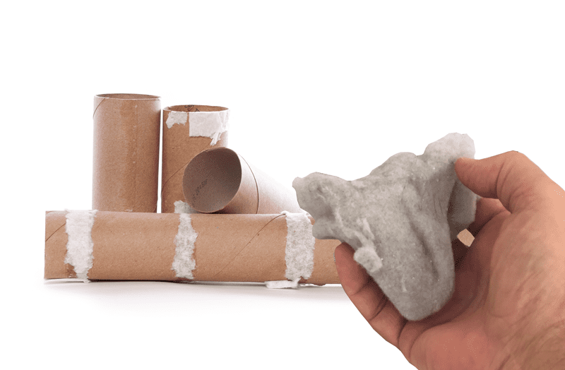 Dryer Lint and paper towel tube