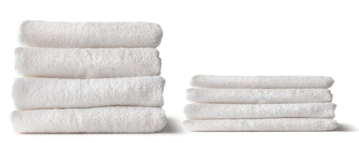 OPT new vs old towels linen damage example