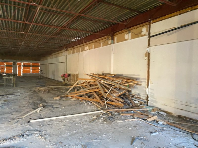 Demolition of previous business