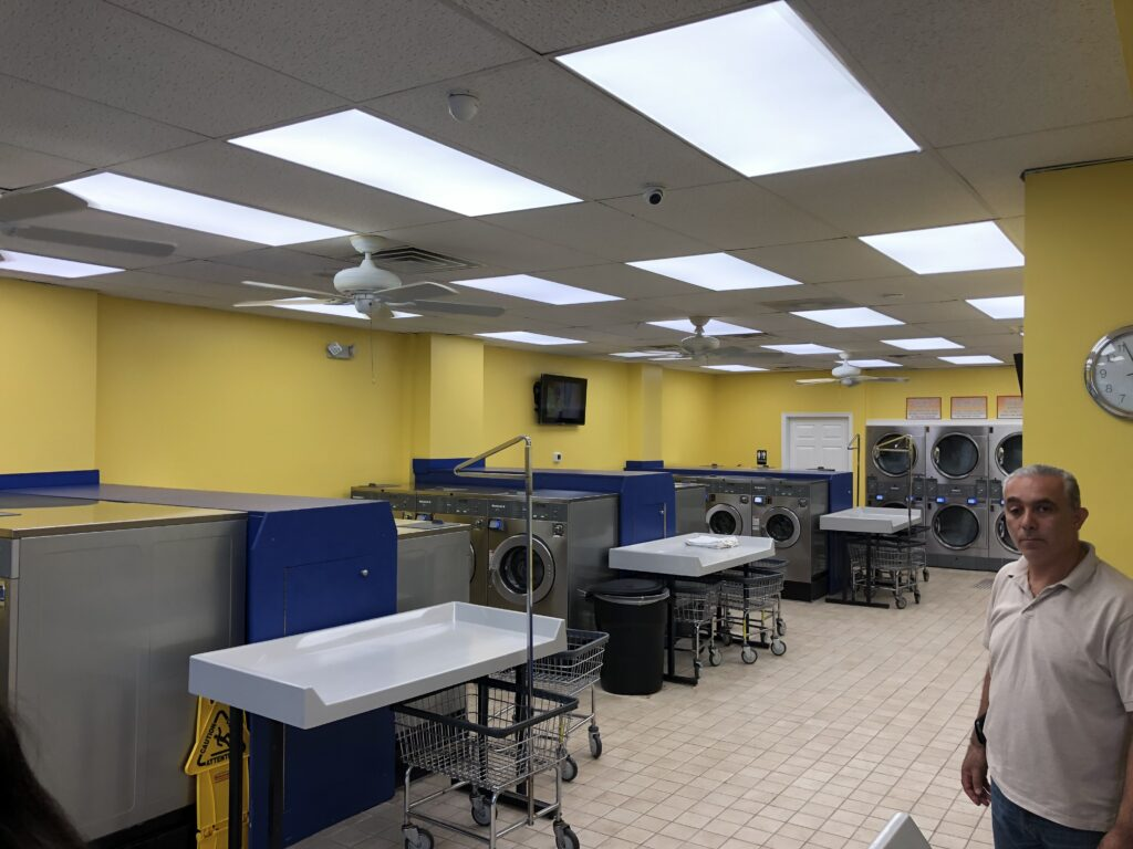Laundromat open and ready for customers.